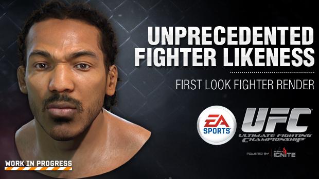 Rederização de Benson revela realismo do próximo jogo do UFC. (Foto: Divulgação)