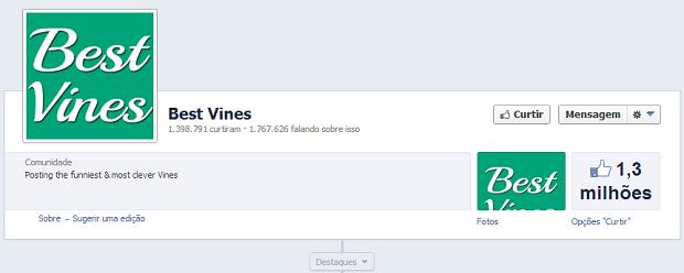 Página já tem mais de um milhão de curtidas (Foto: Reprodução Facebook)