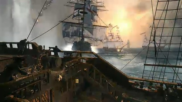 Batalhas navais são destaque em Assassin's Creed 4: Black Flag (Foto: Reprodução)
