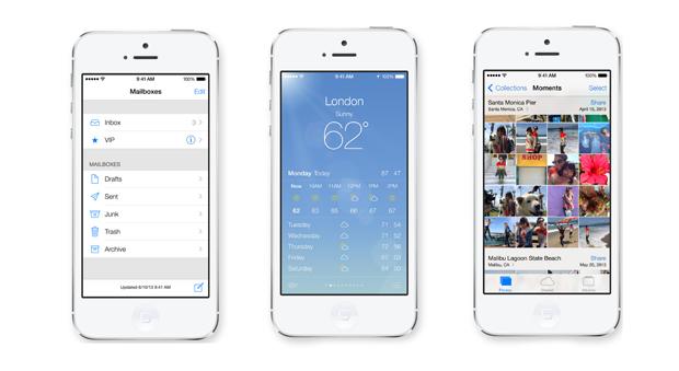Serviços atualizados no iOS 7 (Foto: Divulgação/Apple)