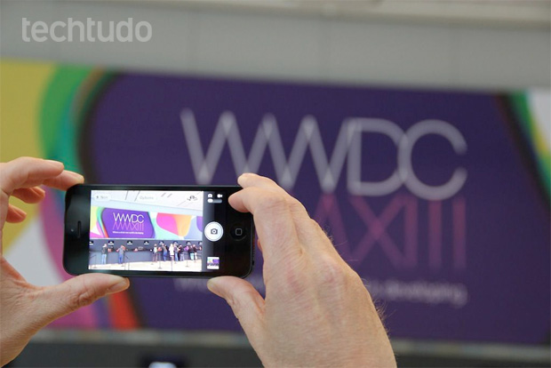 Logo da WWDC no iPhone (Foto: TechTudo/Fabrício Vitorino)