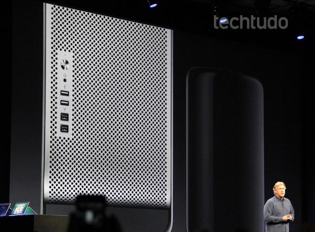 Mac Pro vem com processadores Haswell (Foto: TechTudo/Fabrício Vitorino)