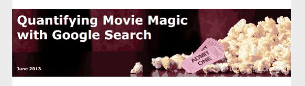 Estudo feito por analistas do Google relaciona cliques aos filmes de maior sucesso (Foto: Reprodução/Google WhitePaper )