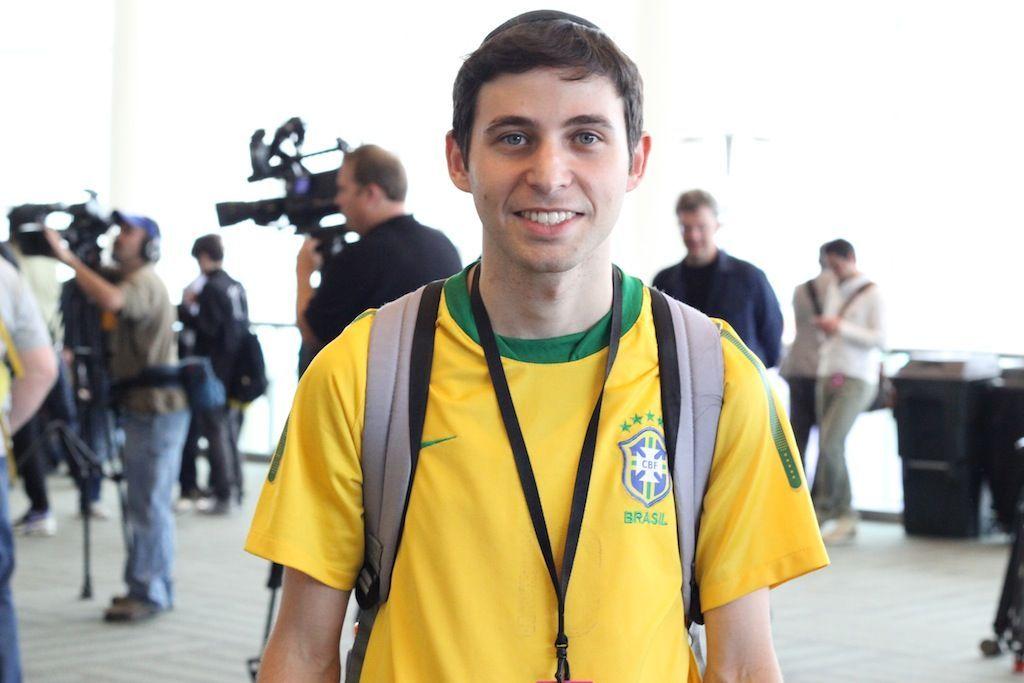 Nathan Rolnik, desenvolvedor brasileiro, aprovou as novidades mostradas pela Apple (Foto: Fabricio Vitorino / TechTudo)
