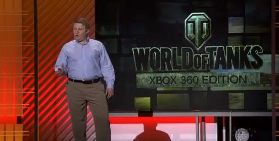Victor Kisly, CEO da Wargaming.net, sobe ao palco e apresenta World of Tanks para o XBOX 360 (Foto: Reprodução)