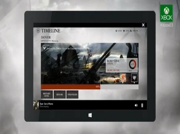 Com o XBOX SmartGlass o jogador pode usar tablets ou smartphones para configurar disputas online (Foto: Reprodução/Microsoft)