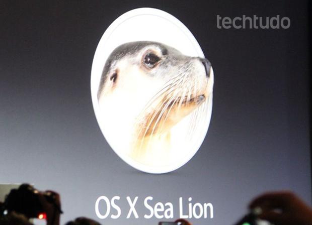 Apple brincou sobre o nome do novo OS X (Foto: TechTudo/Fabrício Vitorino)