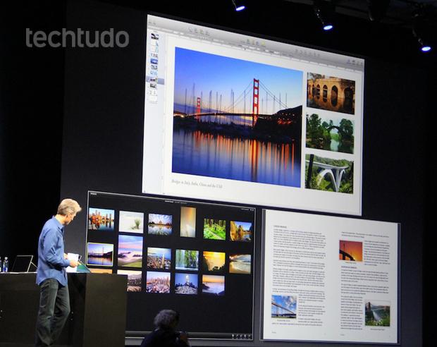 Telas múltiplas no OS X Mavericks (Foto: Fabrício Vitorino)