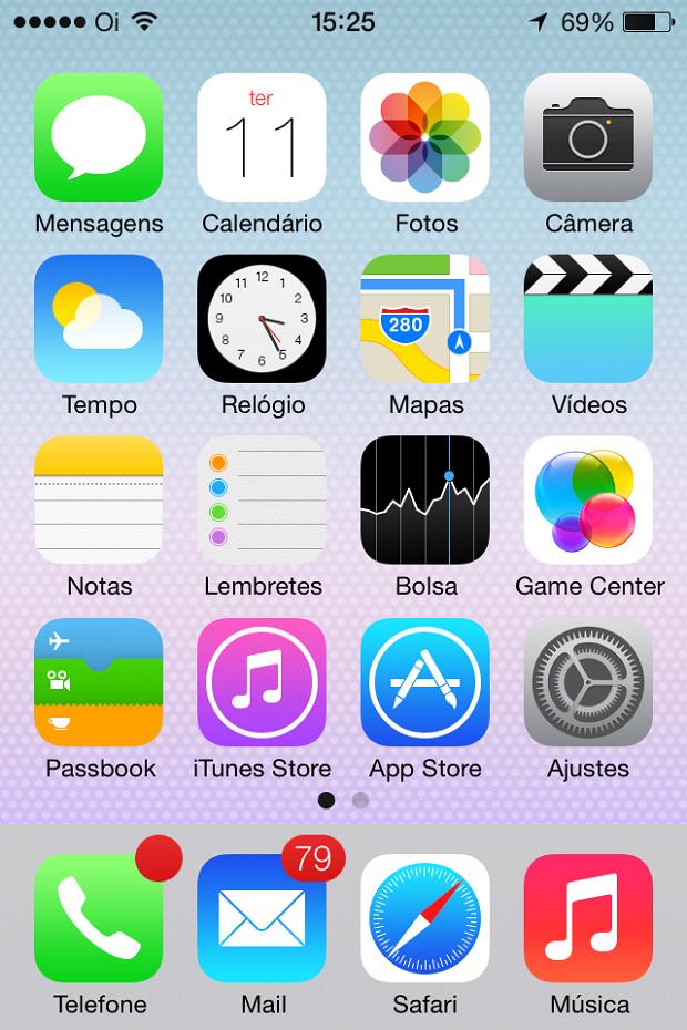 Novos ícones do iOS 7 (Foto: Reprodução/Edivaldo Brito)