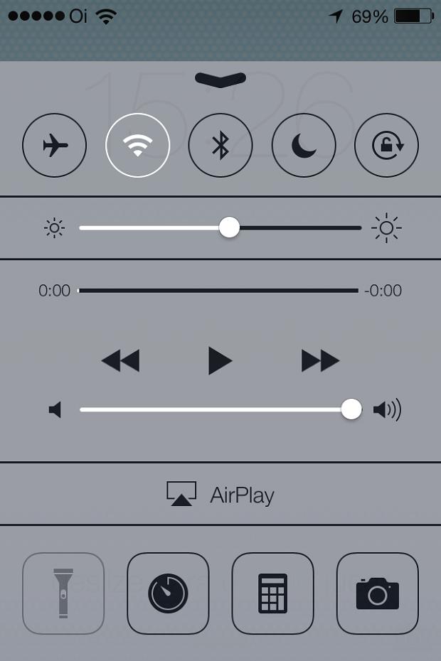 Nova Central de Controle do iOS 7 (Foto: Reprodução/Edivaldo Brito)