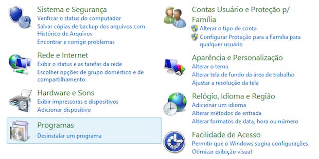 Painel de controle do Windows 8 (Foto: Reprodução/Helito Bijora)
