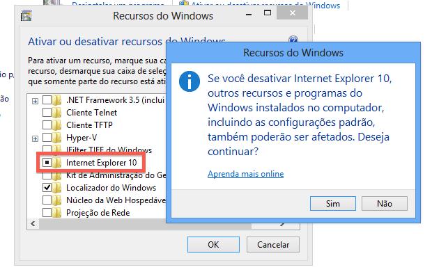Removendo o Internet Explorer (Foto: Reprodução/Helito Bijora)