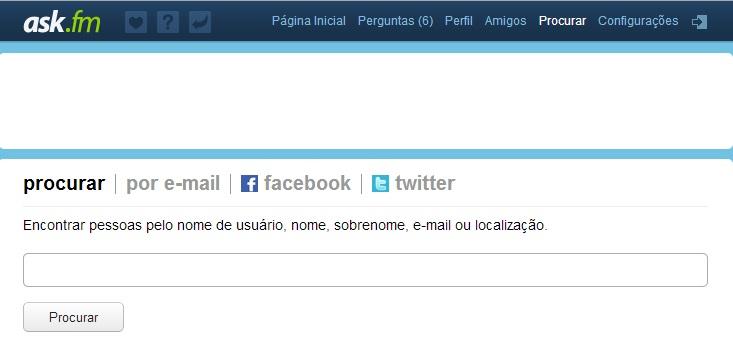 Digite o nome de amigos no campo de busca do Ask.fm (Foto: Reprodução/Carolina Ribeiro)