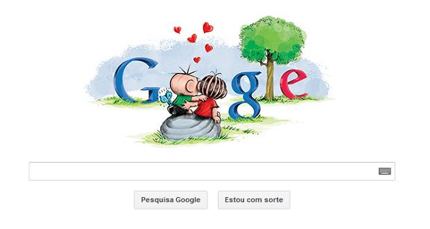 Doodle faz homenagem ao Dia dos Namorados (Foto: Reprodução/Google)
