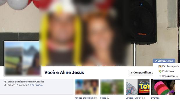 Esta é a página de relacionamentos do Facebook (Foto: Reprodução/Thiago Barros)