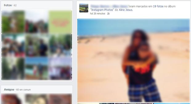 Feed é idêntico ao do perfil tradicional, mas com atualizações de duas pessoas (Foto: Reprodução/Thiago Barros)