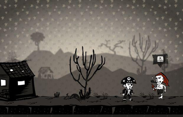 Biliu, o herói do game, diante do Saci (Foto: Divulgação)