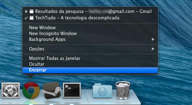 Finalizando o Chrome (Foto: Reprodução/Helito Bijora)