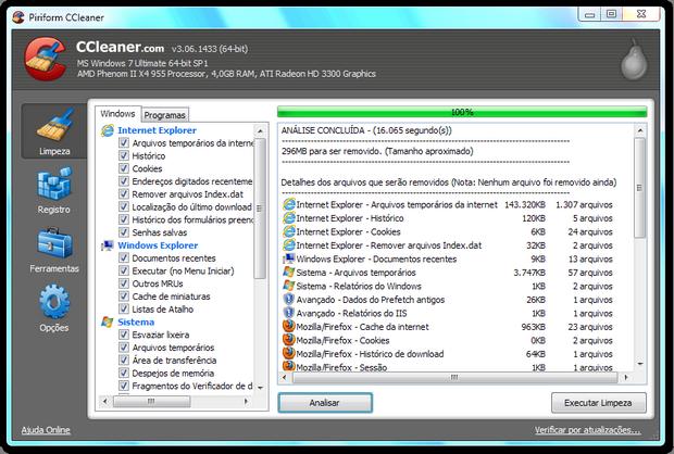 CCleaner é uma ferramenta essencial para quem quer manter a saúde do computador em dia  (Foto: Reprodução/Paulo Higa)