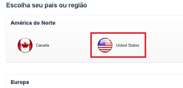 Selecionando o ícone da bandeira dos Estados Unidos (Foto: Reprodução/Edivaldo Brito)