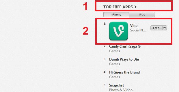 """Selecionando um app """"Free"""" (Foto: Reprodução/Edivaldo Brito)"""