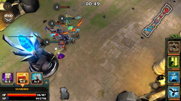 Legendary Heroes tem a jogabilidade de League of Legends em campanha solo (Foto: Divulgação)