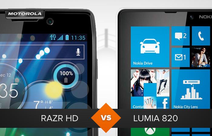 Razr HD ou Lumia 820: qual leva a melhor? O TechTudo analisa (Foto: Arte/TechTudo)