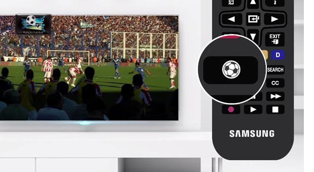 """Novo botão """"Futebol"""" disponível nos produtos Samsung (Foto: Divulgação)"""