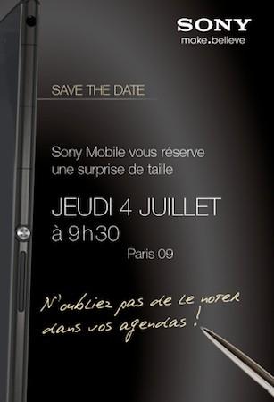 Convite da Sony francesa revela que foblet será lançado no dia 4 de julho (Foto: Divulgação)