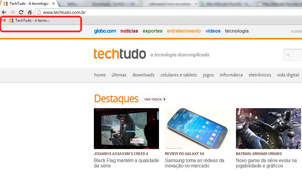 Barra de favoritos do Google Chrome (Foto: Reprodução/Taysa Coelho)