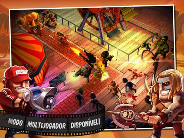 Zombiewood é um dos jogos de zumbis mais divertidos do iPhone (Foto: Divulgação)