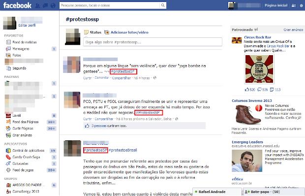 Resultados de publicações que possuem a hashtag pesquisada (Foto: Reprodução/Lívia Dâmaso)