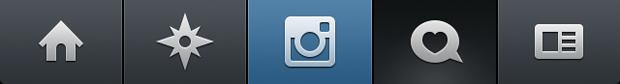 Barra de ícones do Instagram (Foto: Aline Jesus/Reprodução)