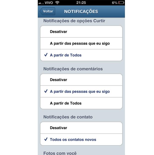 Escolha qual notificação deseja receber no Instagram (Foto: Aline Jesus/Reprodução) (Foto: Escolha qual notificação deseja receber no Instagram (Foto: Aline Jesus/Reprodução))