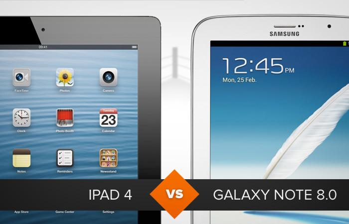 iPad 4 ou Galaxy Note 8.0: qual tablet leva a melhor? O TechTudo analisa (Foto: Arte/TechTudo)