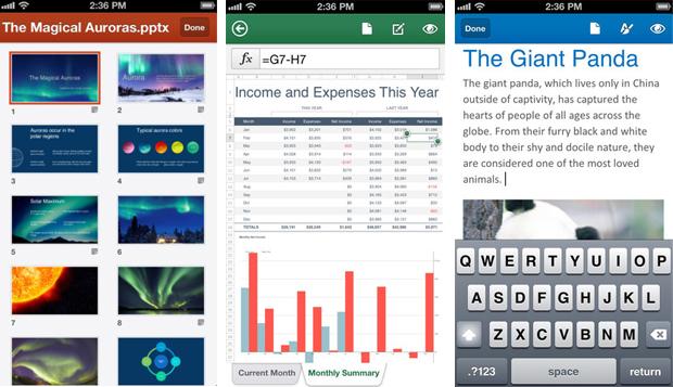 Office para iPhone traz mesmos recursos da versão desktop, mas precisa de assinatura (Foto: Arte/Divulgação)