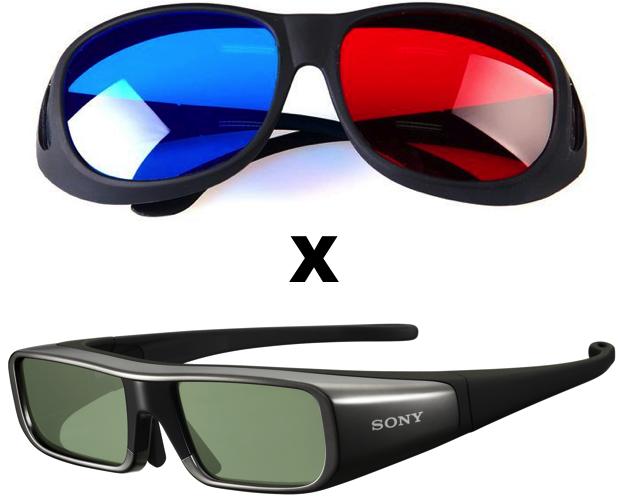 Óculos Passivos e Ativos para visualização de conteúdo em 3D (Foto: Reprodução)