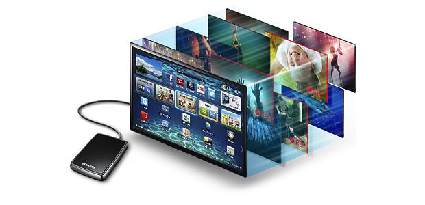 Alguns modelos de Smart TVs permitem a gravação de conteúdo através de Pendrive ou Disco Externo (Foto: Reprodução)