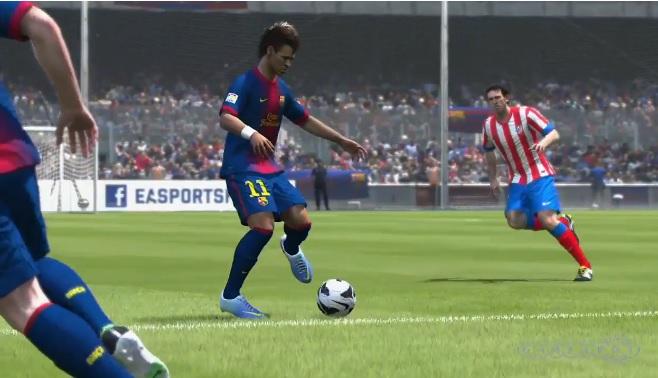 Neymar aparece com o uniforme do Barcelona em Fifa 14 (Foto: Reprodução)