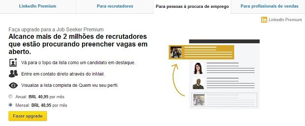 Caçar empregos no LinkedIn fica mais fácil com esta conta (Foto: Reprodução/Thiago Barros)