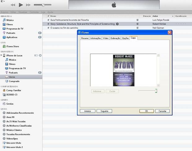 """Com o livro selecionado no iTunes, clique no botão """"OK"""" ou em """"Seguinte"""" (Foto: Lucas da Silva/TechTudo)"""
