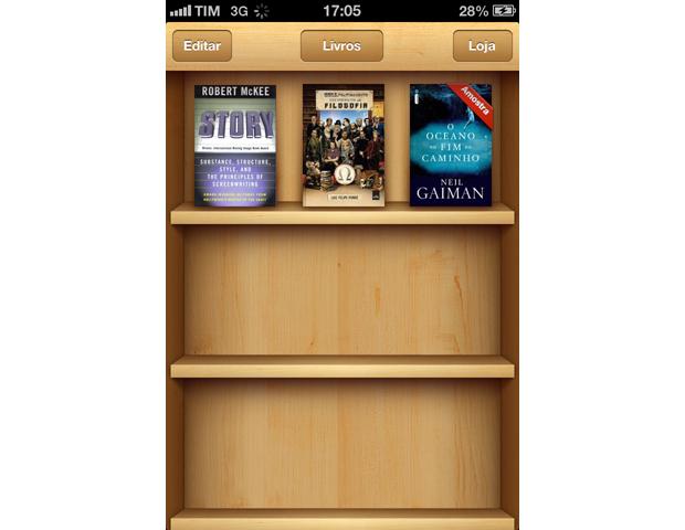 iBooks agrupa livros digitais de maneira simples e organizada (Foto: Lucas da Silva/TechTudo)