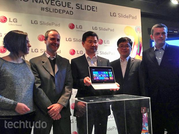 SlidePad foi apresentado no Brasil nesta terça-feira (18) (Foto: André Fogaça/TechTudo)