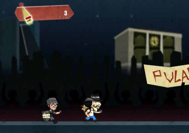 Imagem do game, que rola na Avenida Paulista, fugindo da PM de São Paulo (Foto: Divulgação)
