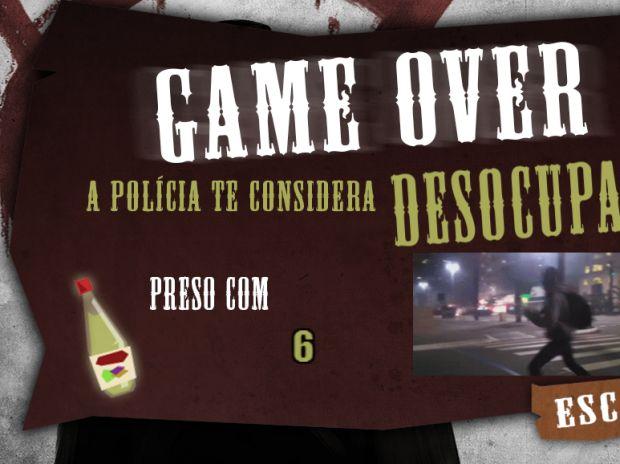 Cena do Game Over do jogo mostra imagens compartilhadas no YouTube (Foto: Divulgação)