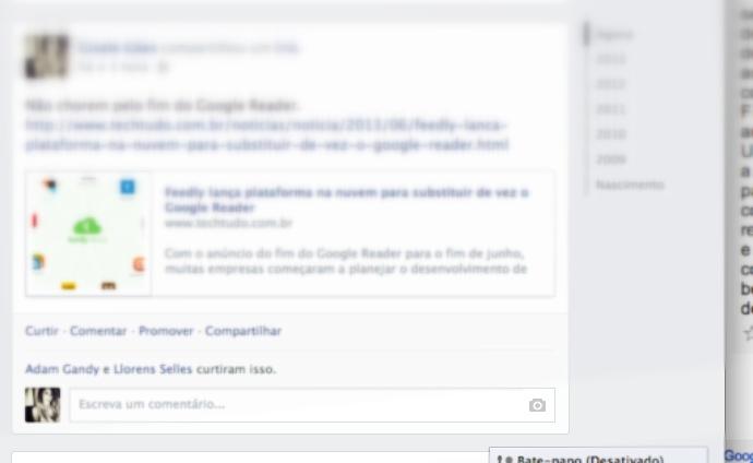 Facebook adiciona botão para inserir imagens em respostas de publicações. (Foto: Reprodução / Gisele Góes) (Foto: Facebook adiciona botão para inserir imagens em respostas de publicações. (Foto: Reprodução / Gisele Góes))