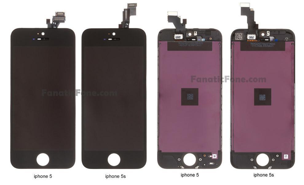 Fotos da peça frontal do iPhone 5S revela que visual não será diferente do iPhone 5 (Foto:Reprodução/GSMArena)