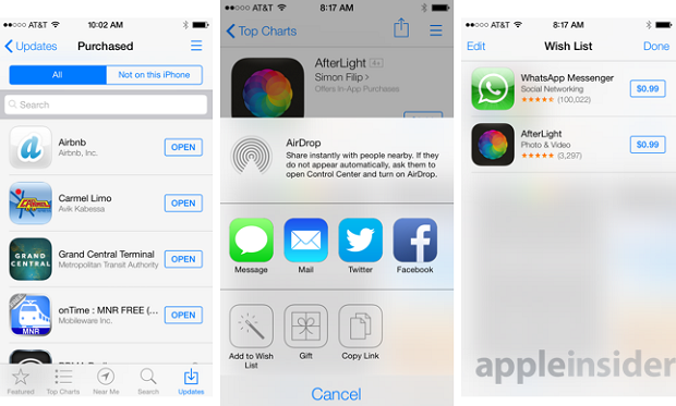 Nova interface da App Store caiu na rede nesta quarta (Foto: Reprodução/Phone Arena)