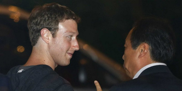 Zuckerberg se encontrou com executivos da Samsung durante visita 'a Coréia do Sul (foto: Divulgação)