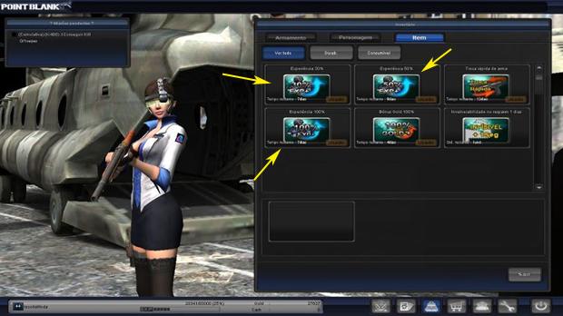 Para upar você poderá comprar pacotes de XP na loja (Foto: Reprodução / Facebook)